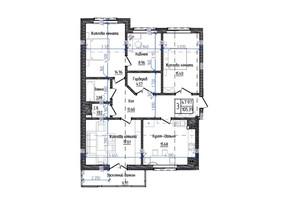 ЖК Престижний: планування 3-кімнатної квартири 105.39 м²