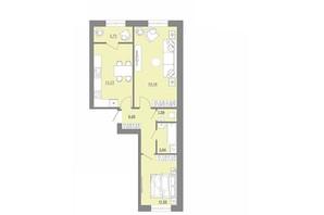 ЖК Проект Парк: планировка 2-комнатной квартиры 61.95 м²