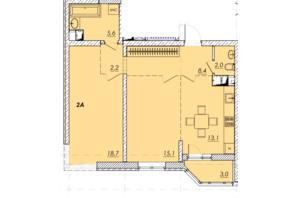 ЖК Прохоровський квартал: планування 2-кімнатної квартири 67.8 м²