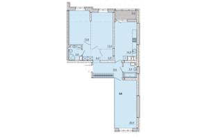 ЖК Прохоровський квартал: планування 3-кімнатної квартири 93 м²