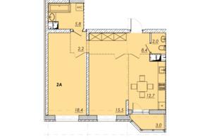 ЖК Прохоровський квартал: планування 2-кімнатної квартири 68 м²