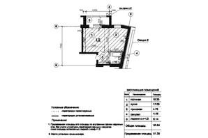 ЖК Пролисок: планировка 1-комнатной квартиры 51.35 м²