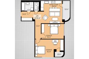 ЖК Provance Home: планування 2-кімнатної квартири 67.1 м²