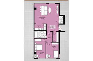 ЖК Provance Home: планування 3-кімнатної квартири 85.7 м²