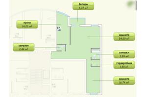 ЖК Пихтовый: планировка 3-комнатной квартиры 95 м²