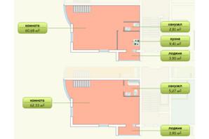 ЖК Пихтовый: планировка 2-комнатной квартиры 144 м²