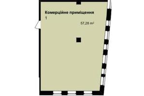 ЖК Q-7 Quoroom Apartments: планування приміщення 57.28 м²