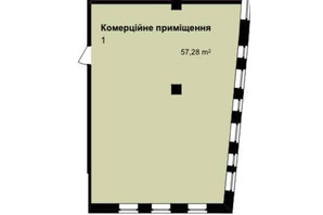 ЖК Q-7 Quoroom Apartments: планировка помощения 57.28 м²