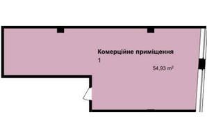 ЖК Q-7 Quoroom Apartments: планировка помощения 54.93 м²