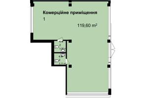ЖК Q-7 Quoroom Apartments: планировка помощения 119.6 м²