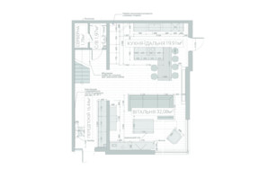 ЖК QDRO-terraced house: планировка 5-комнатной квартиры 220 м²
