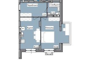 ЖК R2 residence: планировка 1-комнатной квартиры 48.2 м²