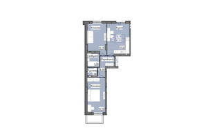 ЖК R2 residence: планировка 2-комнатной квартиры 62.05 м²