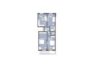 ЖК R2 residence: планировка 3-комнатной квартиры 85.64 м²