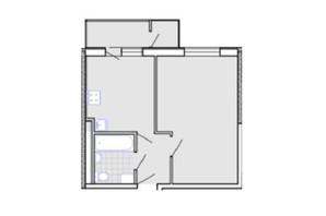ЖК Радужный: планировка 1-комнатной квартиры 38.3 м²
