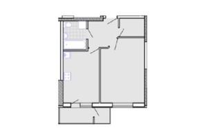 ЖК Радужный: планировка 1-комнатной квартиры 40.7 м²