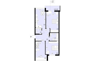 ЖК Ренессанс: планировка 3-комнатной квартиры 90.95 м²
