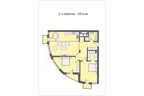 ЖК Residents Park: планування 3-кімнатної квартири 100 м²