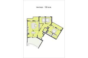 ЖК Residents Park: планування 4-кімнатної квартири 198 м²