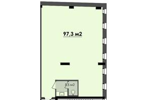 ЖК Respect Hall: планування приміщення 97.3 м²