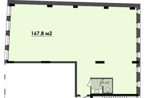ЖК Respect Hall: планування приміщення 167.8 м²