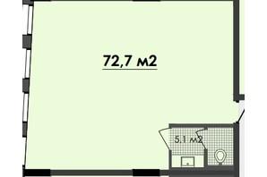 ЖК Respect Hall: планування приміщення 72.7 м²
