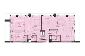 ЖК Respect Hall: планування 3-кімнатної квартири 134.48 м²