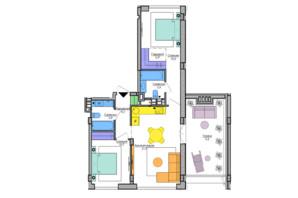 ЖК Respublika : планировка 2-комнатной квартиры 58 м²