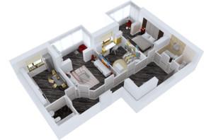 ЖК Резиденція: планування 3-кімнатної квартири 96.26 м²
