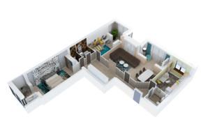 ЖК Резиденция: планировка 3-комнатной квартиры 122 м²