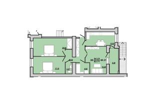 ЖК Рідний дім: планування 3-кімнатної квартири 90.21 м²