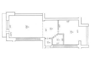 ЖК Rivbud: планування 1-кімнатної квартири 64.3 м²