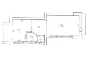 ЖК Rivbud: планування 1-кімнатної квартири 65.9 м²