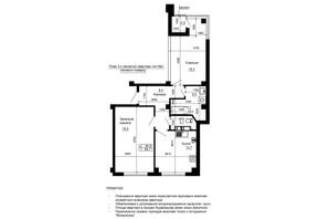 ЖК River House: планування 2-кімнатної квартири 65.4 м²