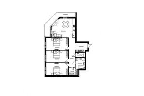 ЖК River Land: планировка 3-комнатной квартиры 135 м²