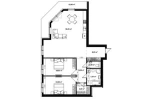 ЖК River Land: планування 3-кімнатної квартири 139.3 м²