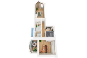 ЖК Рів'єра: планування 2-кімнатної квартири 98.46 м²