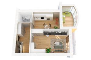 ЖК Рів'єра: планування 1-кімнатної квартири 67.89 м²