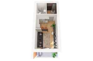ЖК Рів'єра: планування 1-кімнатної квартири 33 м²