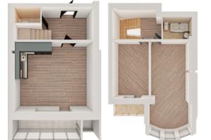 ЖК Рів'єра: планування 2-кімнатної квартири 85.02 м²