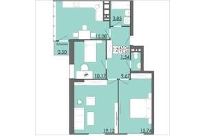 ЖК Родинна Казка: планировка 3-комнатной квартиры 75.68 м²