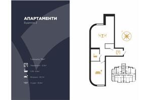 ЖК Royal Hall: планировка 1-комнатной квартиры 78 м²