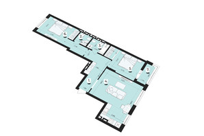 ЖК Royal Park: планування 2-кімнатної квартири 78.86 м²