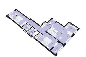 ЖК Royal Park: планування 2-кімнатної квартири 75.7 м²