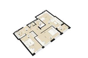 ЖК Royal Park: планування 3-кімнатної квартири 85.59 м²