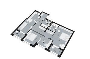 ЖК Royal Park: планування 3-кімнатної квартири 79.76 м²