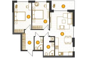 ЖК Royal Residence: планировка 2-комнатной квартиры 80.62 м²