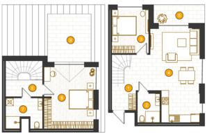 ЖК Royal Residence: планировка 2-комнатной квартиры 101.94 м²
