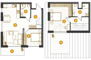 ЖК Royal Residence: планировка 2-комнатной квартиры 94.87 м²