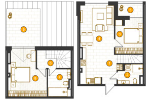 ЖК Royal Residence: планировка 2-комнатной квартиры 88.65 м²